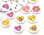 Printed Wooden Buttons