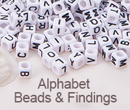 Alphabet Beads & Findings
