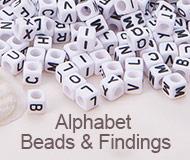 Alphabet Beads & Findings