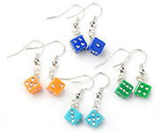 Acrylic Dice Earrings