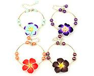 Clay Flower Bracelets