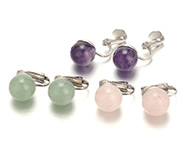 Gemstone Clip-on Earrings