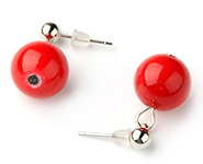 Jade Ball Earstuds