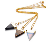 Triangle Pendant Necklaces