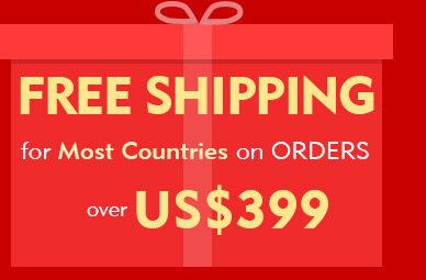 Free Shipping for Most Countries on Orders over US$399