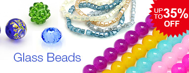 Glass Beads - Save Up to 35% OFF