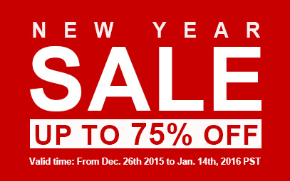 NEW YEAR SALE -- Save Up To 75% OFF