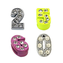 Number Slide Charms