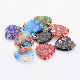 Millefiori Glass Pendants