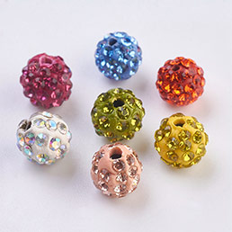 Rhinestone Clay Pave Beads