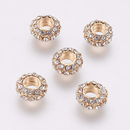 Alloy Rhinestone Beads