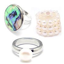 Muscheln & Perlen Ringe