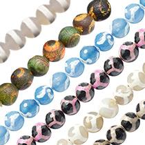 Tibetan Style dZi Beads
