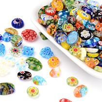 Millefiori Glass Cabochons
