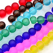 Mattiertes Glas Perlen