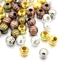 Perles Ondulées En Métal
