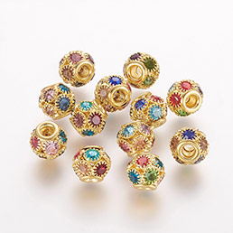 Brass Rhinestone Beads