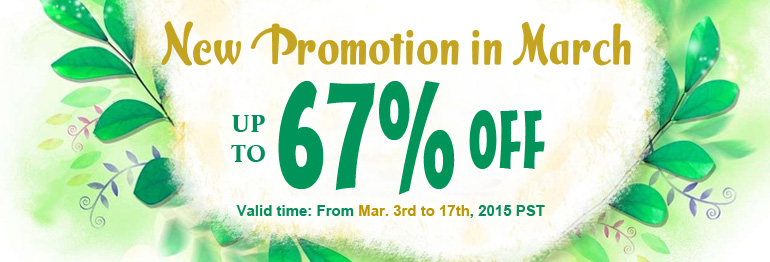 New Promotion in March:Up to 67% OFF on most beads and findings