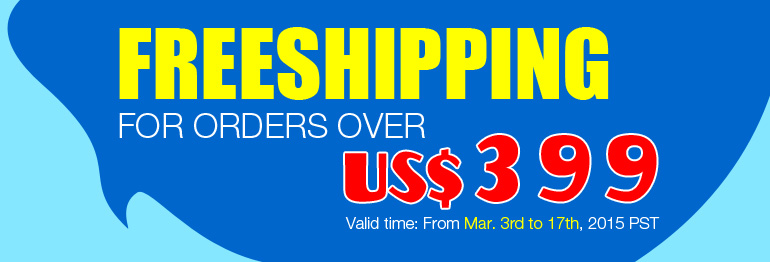 Free Shipping for Orders Over US$399